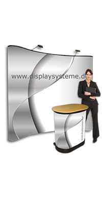 Messedisplay Exhibition Frame Curved Straight